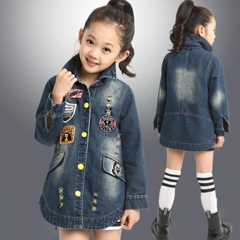 Ветровка из джинсы для девочки своими руками 6