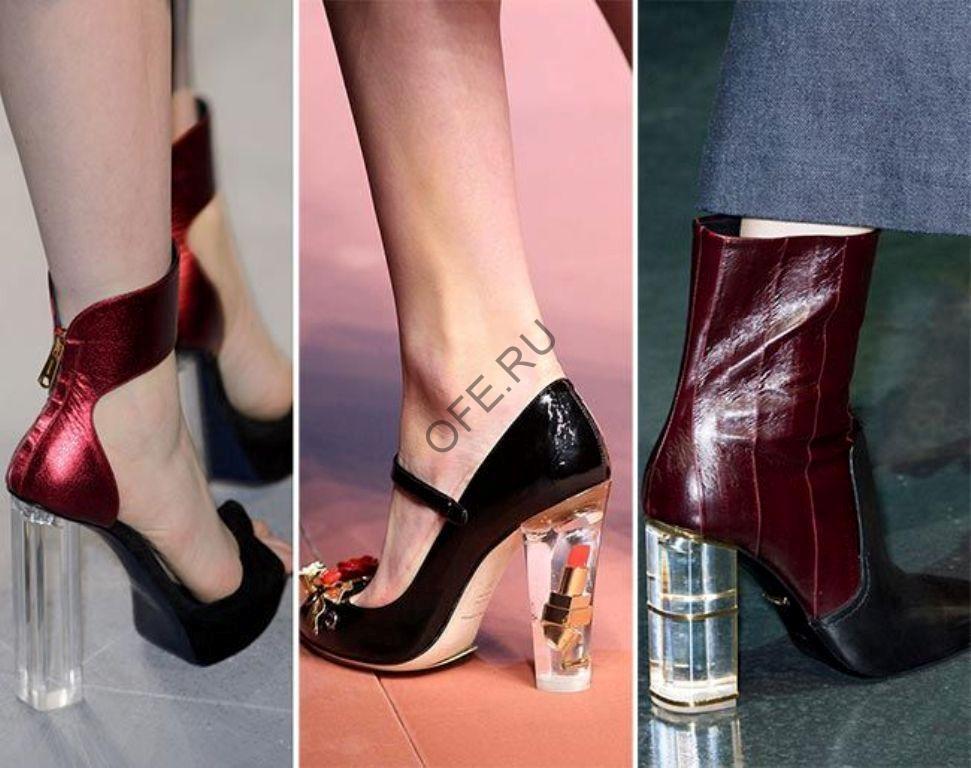 Обувь с прозрачным каблуком