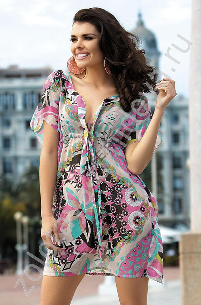 Пляжное платье для пышных