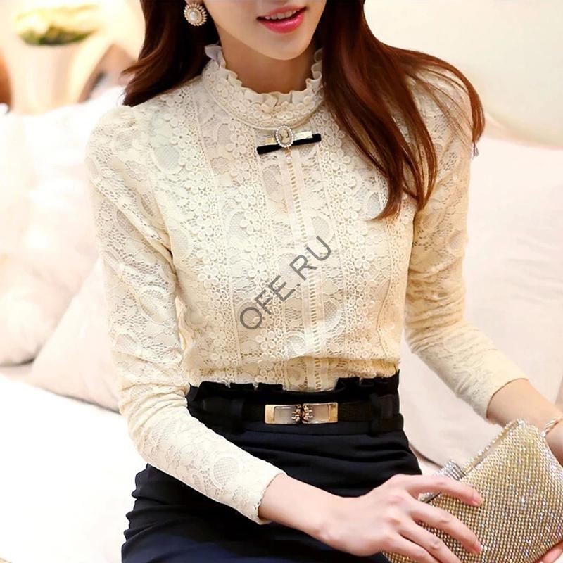 Блузка с контрастным низом