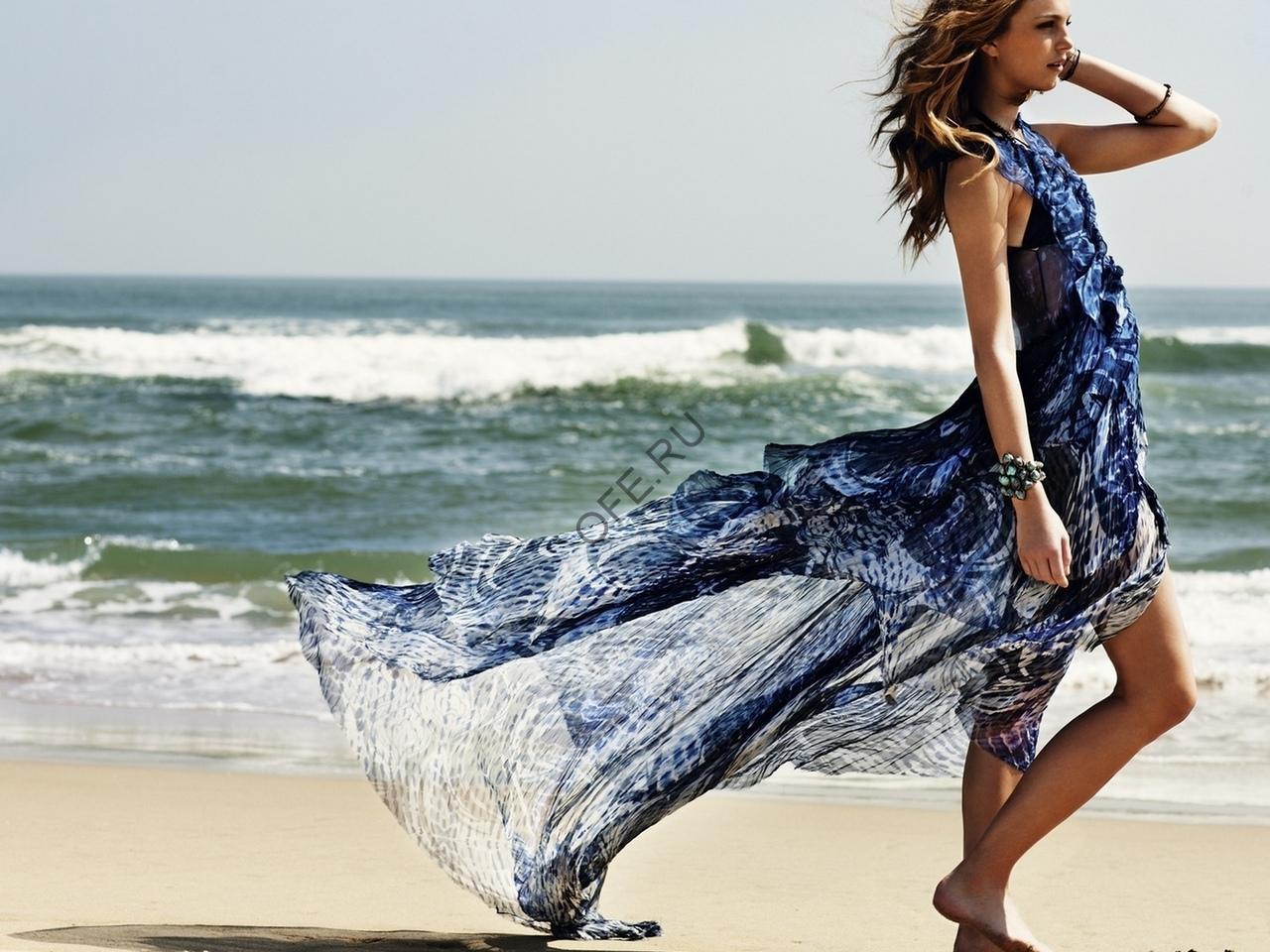 Шифоновое пляжное платье