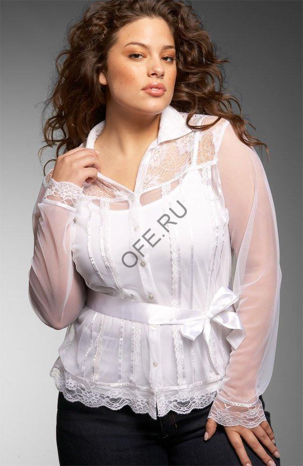 Блузки для полных девушек