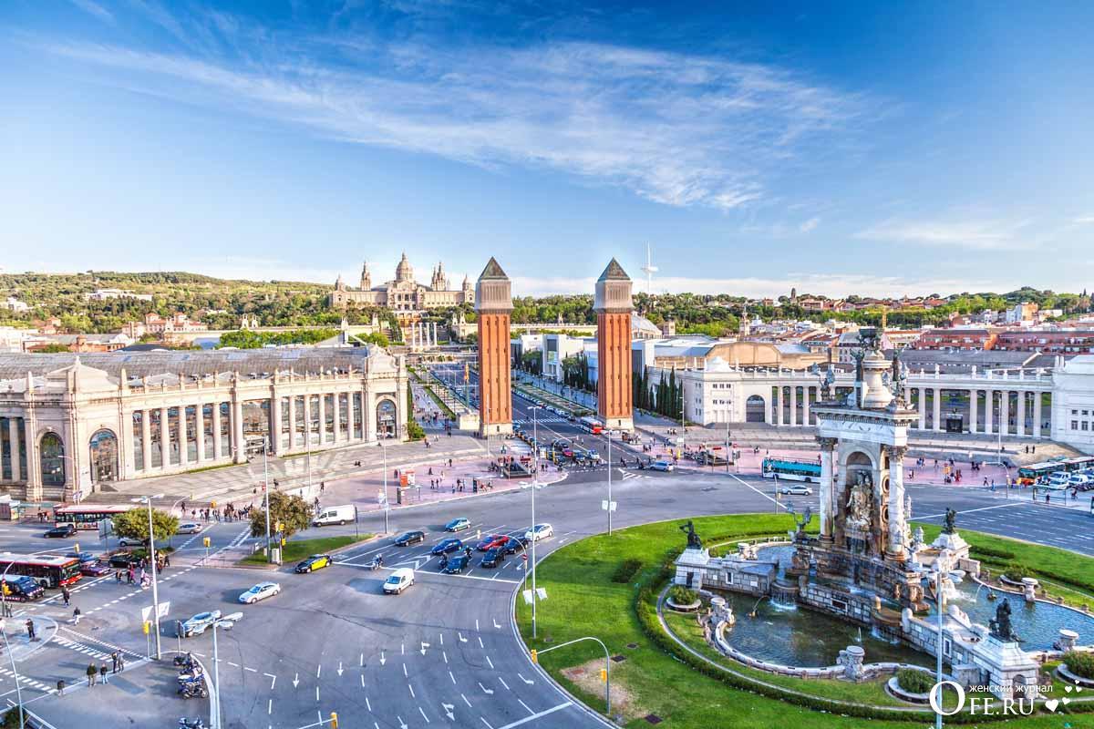 Вид на центр Барселоны