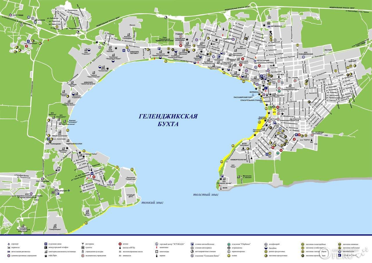 Карта Геленджик