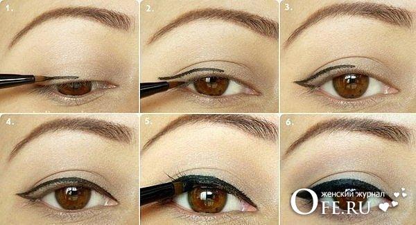 как рисовать стрелки на глазах
