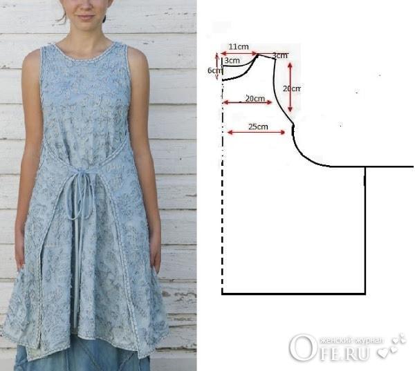 Выкройка платья в стиле бохо своими руками