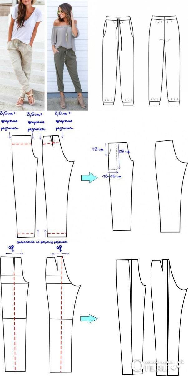 Сшить брюки в стиле бохо своими руками 66