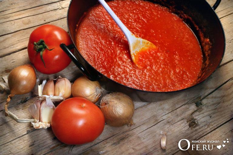 томатная подлива рецепт
