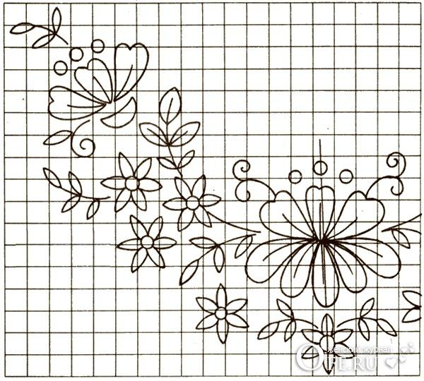 Люневильская вышивка схема
